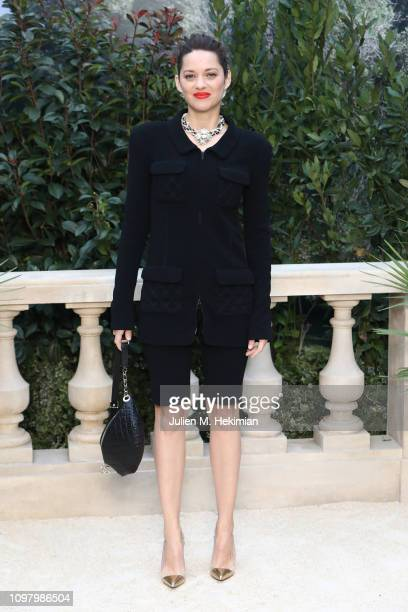 Marion Cotillard attends the Chanel Haute Couture Spring Summer 2019 show as part of Paris Fashion Week on January 22 2019 in Paris France