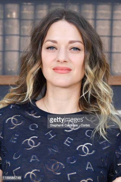 Marion Cotillard attends the Chanel photocall as part of Paris Fashion Week - Haute Couture Fall Winter 2020 at Grand Palais on July 02, 2019 in...