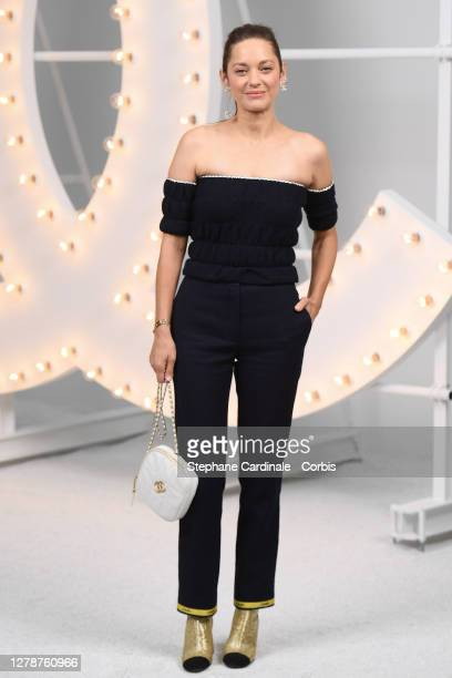 Marion Cotillard attends the Chanel Womenswear Spring/Summer 2021 show as part of Paris Fashion Week on October 06, 2020 in Paris, France.