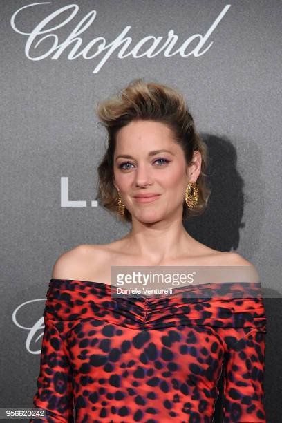 Marion Cotillard attends the Chopard Gentleman's Night during the 71st annual Cannes Film Festival at Martinez Hotel on May 9 2018 in Cannes France
