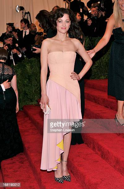 Marion Cotillard attends the Costume Institute Gala for the 'PUNK Chaos to Couture' exhibition at the Metropolitan Museum of Art on May 6 2013 in New...