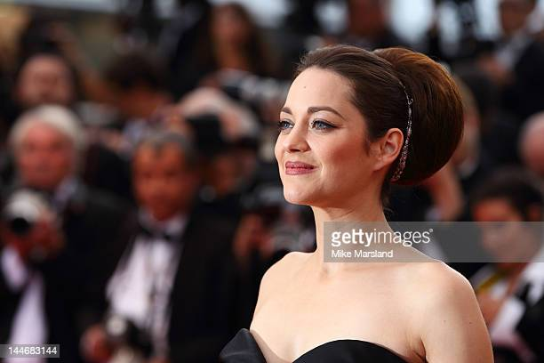 "Marion Cotillard attends the ""De Rouille et D'os"" Premiere during the 65th Annual Cannes Film Festival at the Palais des Festivals on May 17, 2012 in..."