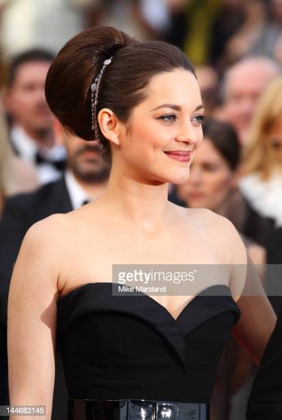 """Marion Cotillard attends the """"De Rouille et D'os"""" Premiere during the 65th Annual Cannes Film Festival at the Palais des Festivals on May 17, 2012 in..."""