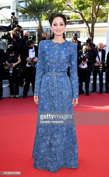 """Marion Cotillard attends the """"De Son Vivant """" screening during the 74th annual Cannes Film Festival on July 10, 2021 in Cannes, France."""