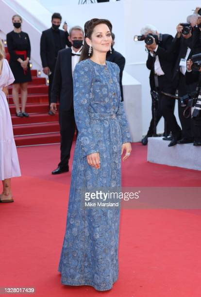 """Marion Cotillard attends the """"De Son Vivient """" screening during the 74th annual Cannes Film Festival on July 10, 2021 in Cannes, France."""
