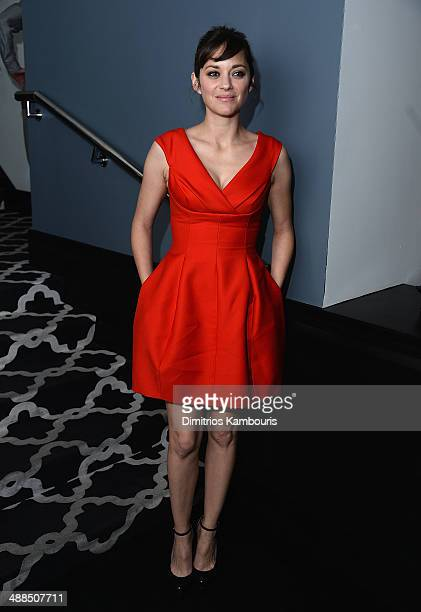 Marion Cotillard attends the Dior Vanity Fair with The Cinema Society and Moet Chandon after party for The Weinstein Company's The Immigrant at...