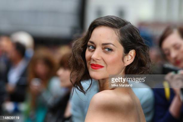 "Marion Cotillard attends the European premiere of ""The Dark Knight Rises"" at Odeon Leicester Square on July 18, 2012 in London, England."
