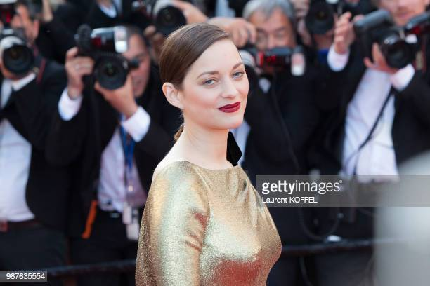 Marion Cotillard attends the 'From The Land Of The Moon ' premiere during the 69th annual Cannes Film Festival at the Palais des Festivals on May 15...