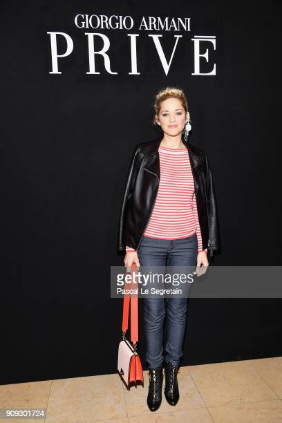 Marion Cotillard attends the Giorgio Armani Prive Haute Couture Spring Summer 2018 show as part of Paris Fashion Week on January 23 2018 in Paris...