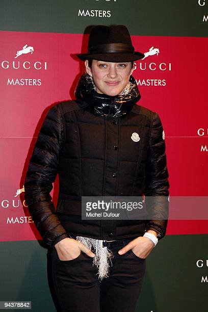 Marion Cotillard attends the International Gucci Masters Competition - Day 4 at Paris Nord Villepinte on December 13, 2009 in Paris, France.