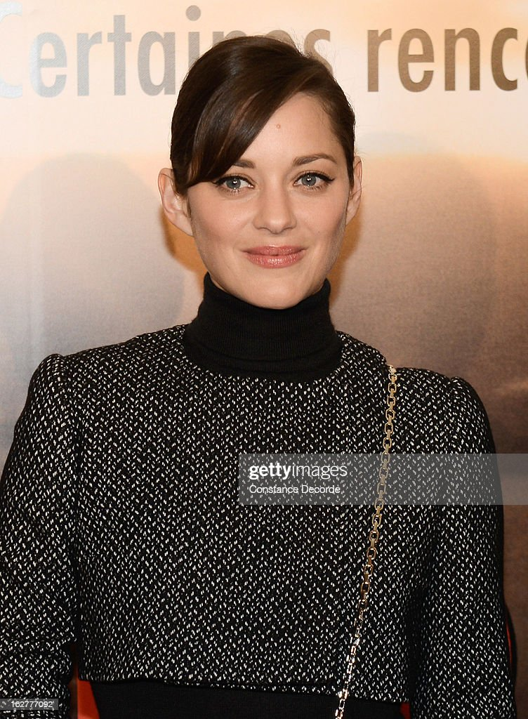 Marion Cotillard attends the 'Jappeloup' premiere at Le Grand Rex on February 26, 2013 in Paris, France.