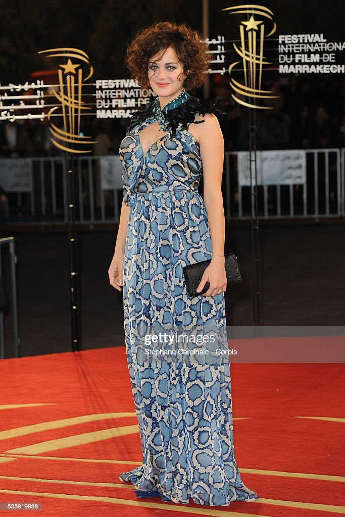 Marion Cotillard attends the Opening Ceremony of the Marrakech 10th Film Festival.