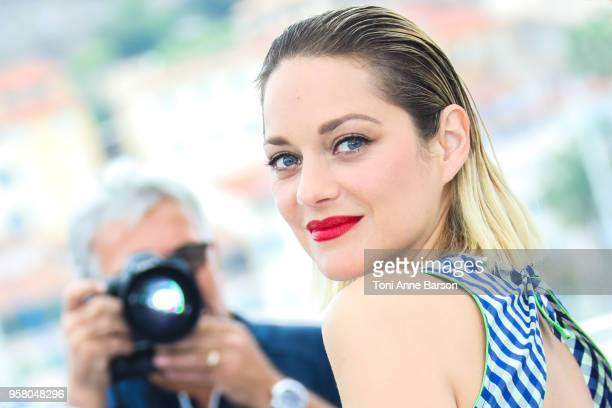 "Marion Cotillard attends the photocall for ""Angel Face "" during the 71st annual Cannes Film Festival at Palais des Festivals on May 12, 2018 in..."