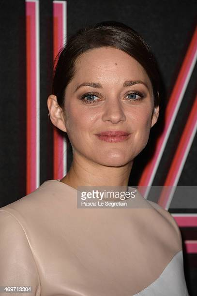 Marion Cotillard attends the PIAF Exhibition to Celebrate Edith Piaf's Birth Centenary at Bibliotheque Nationale de France on April 14 2015 in Paris...