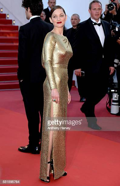 Marion Cotillard attends the premiere of 'From The Land Of The Moon ' at the annual 69th Cannes Film Festival at Palais des Festivals on May 15 2016...