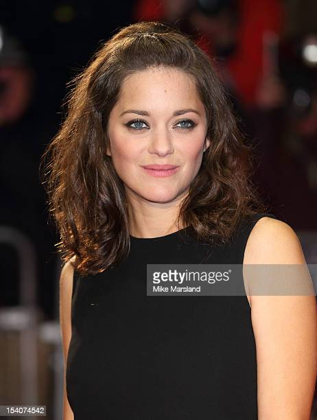 Marion Cotillard attends the premiere of 'Rust and Bone' during the 56th BFI London Film Festival at Odeon West End on October 13 2012 in London...