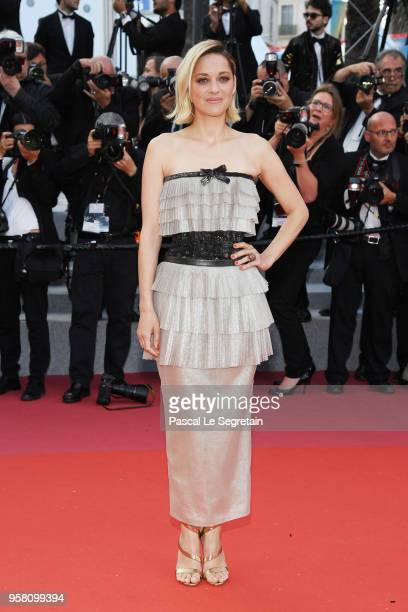 Marion Cotillard attends the screening of 'Sink Or Swim ' during the 71st annual Cannes Film Festival at Palais des Festivals on May 13 2018 in...