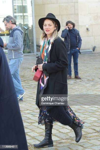 Marion Cotillard attends the Tribute to Agnes Varda At La Cinematheque on April 02 2019 in Paris France