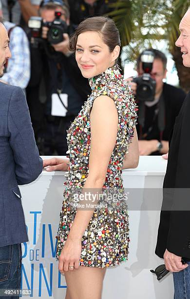 Marion Cotillard attends the 'Two Days One Night' photocall at the 67th Annual Cannes Film Festival on May 20 2014 in Cannes France