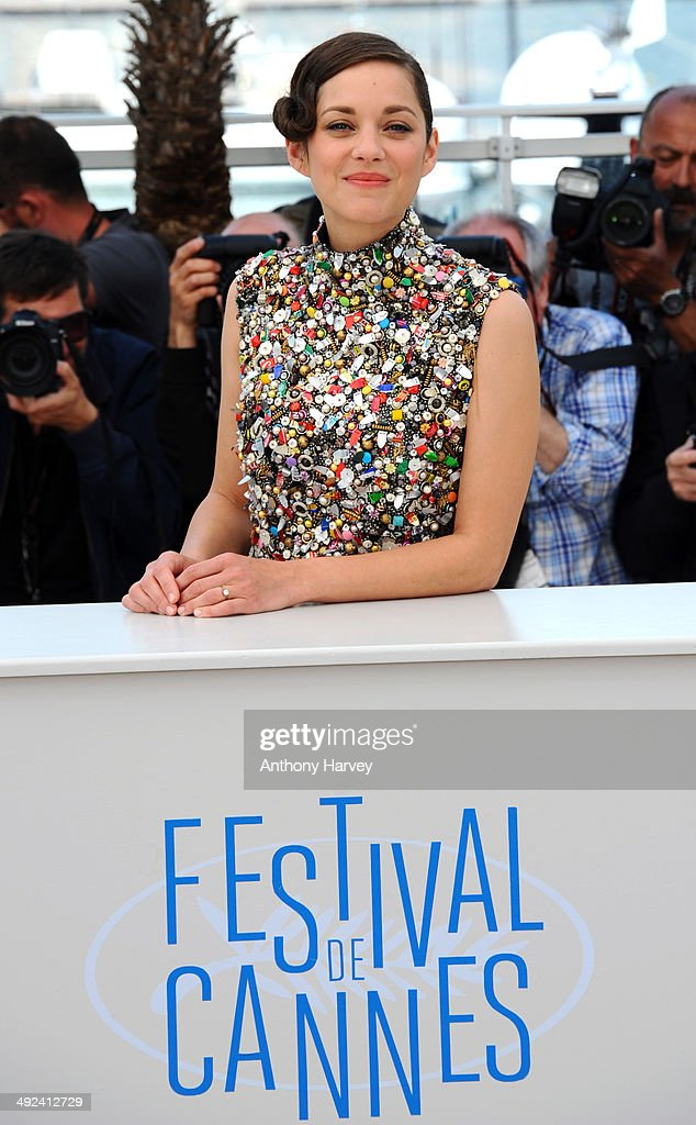 Marion Cotillard attends the 'Two Days, One Night' photocall at the 67th Annual Cannes Film Festival on May 20, 2014 in Cannes, France.