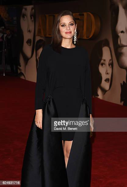 Marion Cotillard attends the UK Premiere of Allied at Odeon Leicester Square on November 21 2016 in London England
