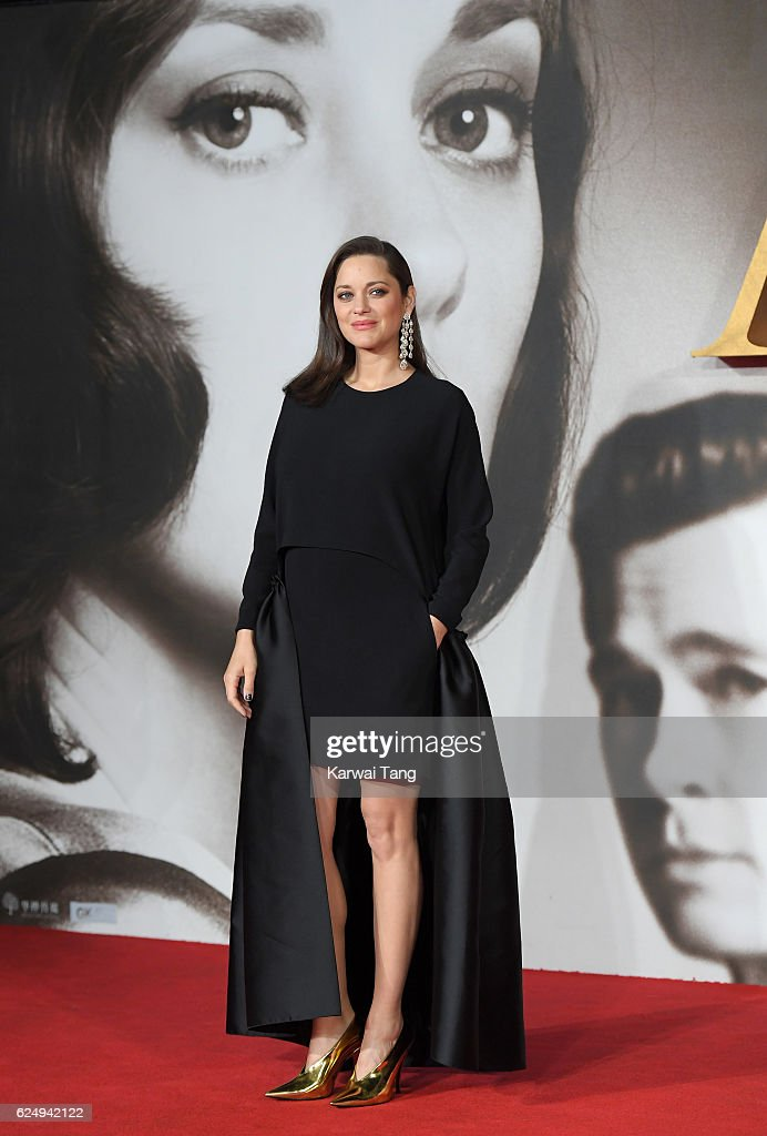 Marion Cotillard attends the UK Premiere of 'Allied' at Odeon Leicester Square on November 21, 2016 in London, England.