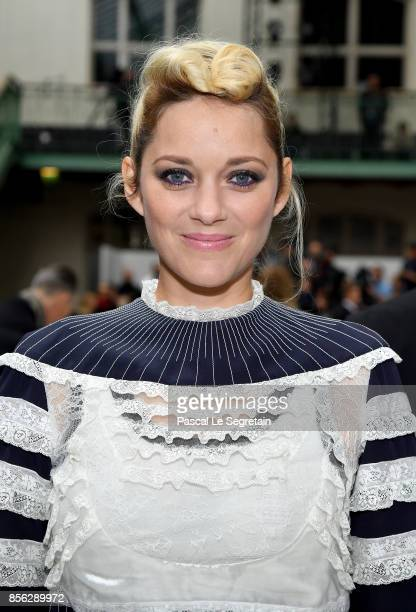 Marion Cotillard attends the Valentino show as part of the Paris Fashion Week Womenswear Spring/Summer 2018 on October 1 2017 in Paris France