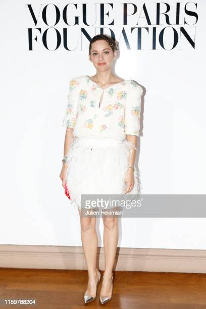 Marion Cotillard attends the Vogue diner as part of Paris Fashion Week - Haute Couture Fall Winter 2020 at Le Trianon on July 02, 2019 in Paris,...