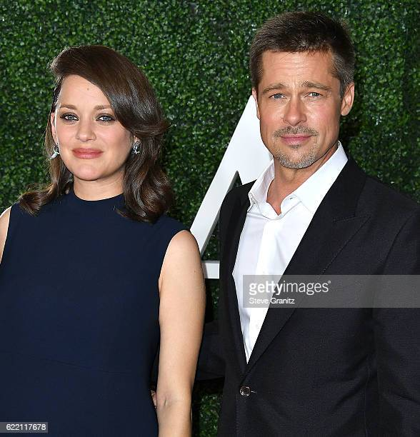 Marion Cotillard Brad Pitt arrives at the Fan Event For Paramount Pictures' 'Allied' at Regency Village Theatre on November 9 2016 in Westwood...