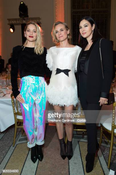 Marion Cotillard Diane Kruger and Monica Bellucci attend the 'Cesar Revelations 2018' Party at Le Petit Palais on January 15 2018 in Paris France
