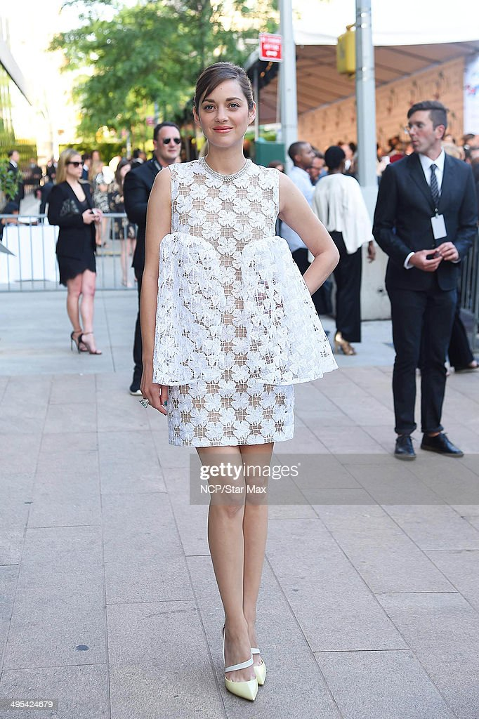Marion Cotillard is seen arriving at The 2014 CFDA Fashion Awards on June 2, 2014 in New York City.