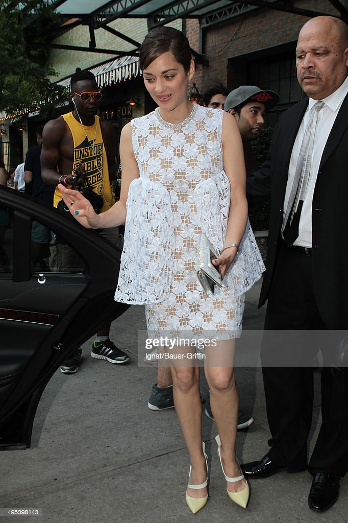 Marion Cotillard is seen on June 02, 2014 in New York City.