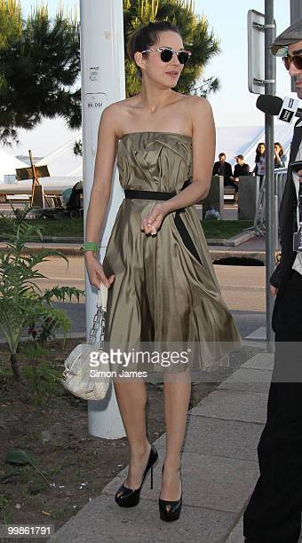 Marion Cotillard is seen on May 17 2010 in Cannes France
