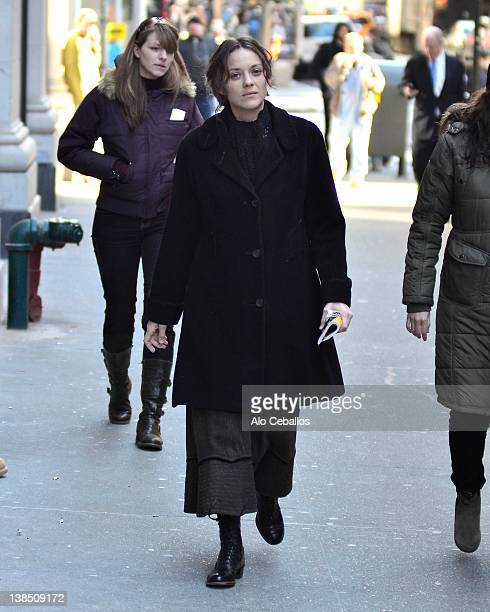 Marion Cotillard is seen on the set of the United James Gray Project on February 7, 2012 in New York City.