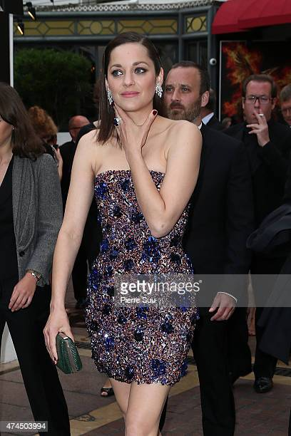 Marion Cotillard leaves the Majestic Hotel to attend the Premiere of Macbeth during the 68th annual Cannes Film Festival on May 23, 2015 in Cannes,...