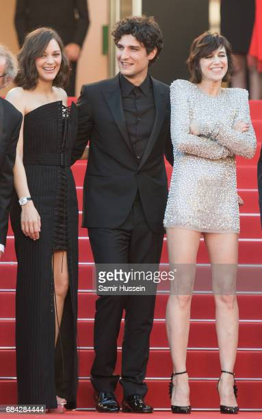 Marion Cotillard Louis Garrel and Charlotte Gainsbourg attends the 'Ismael's Ghosts ' screening and Opening Gala during the 70th annual Cannes Film...