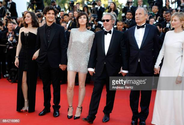 Marion Cotillard Louis Garrel Charlotte Gainsbourg Hippolyte Girardot director Arnaud Desplechin and Alba Rohrwacher attend the 'Ismael's Ghosts '...