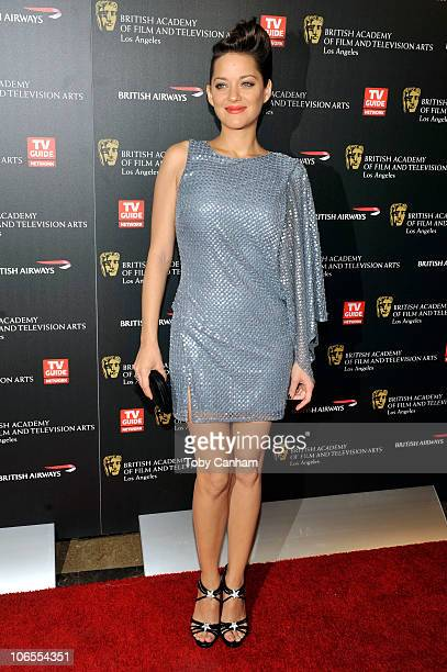 Marion Cotillard poses for a picture at the 18th Annual BAFTA Britannia Awards held at the Hyatt Regency Century Plaza Hotel on November 4, 2010 in...