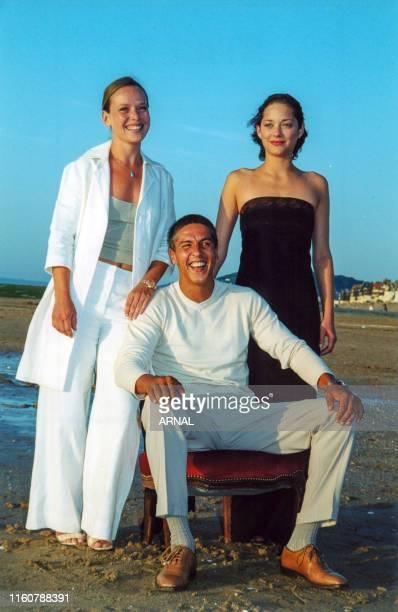 Marion Cotillard, Samy Naceri et Marie Guillard au Festival de Cabourg le 15 juin 2000, France.