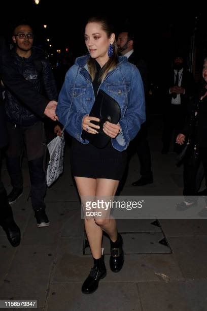 Marion Cotillard seen leaving the Chopard afterparty at Banqueting House on June 17, 2019 in London, England.