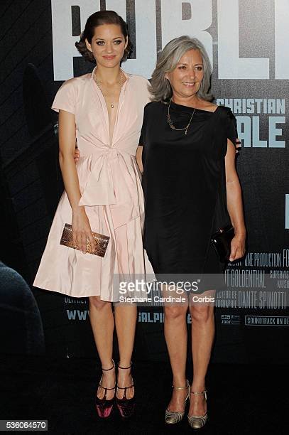 Marion Cotillard with her mother Niseema Theillaud attend the premiere of Public Enemies in Paris