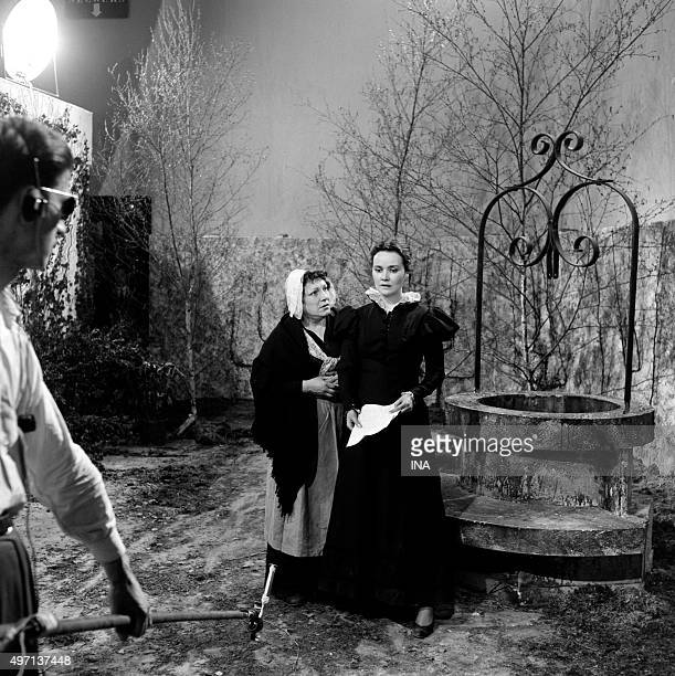 Marion Delbo and Dominique Blanchar in 'Eugénie Grandet' of Balzac realized for the television by Maurice Cazeneuve