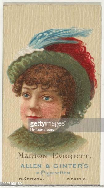 Marion Everett, from World's Beauties, Series 2 for Allen & Ginter Cigarettes, 1888. Artist Allen & Ginter.