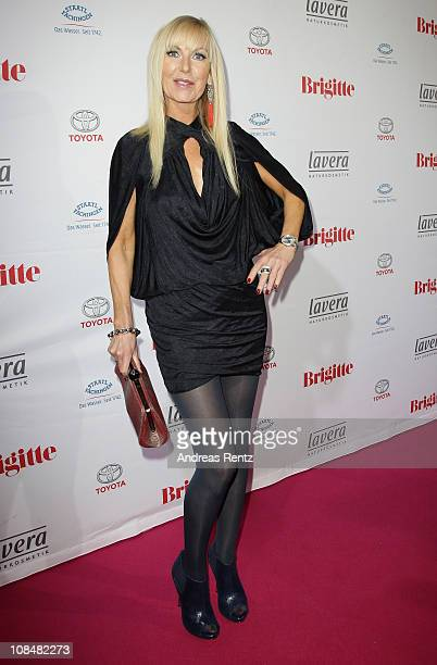 Marion Fedder arrives for the BRIGITTE fashion event at the Hamburg Cruise Center on January 28 2011 in Hamburg Germany