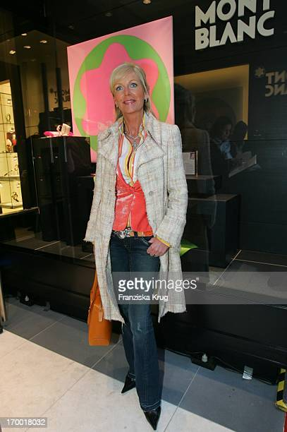Marion Fedder at The Opening Of The New Montblanc shop at Neuer Wall in Hamburg 210405.
