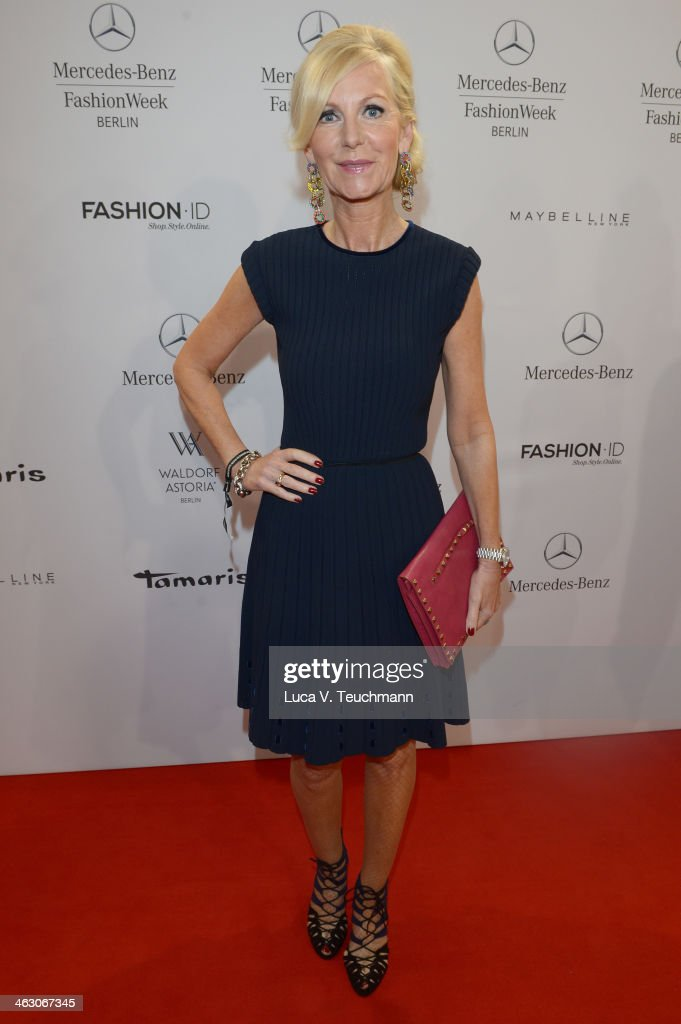 Marion Fedder attends the Laurel show during Mercedes-Benz Fashion Week Autumn/Winter 2014/15 at Brandenburg Gate on January 16, 2014 in Berlin, Germany.