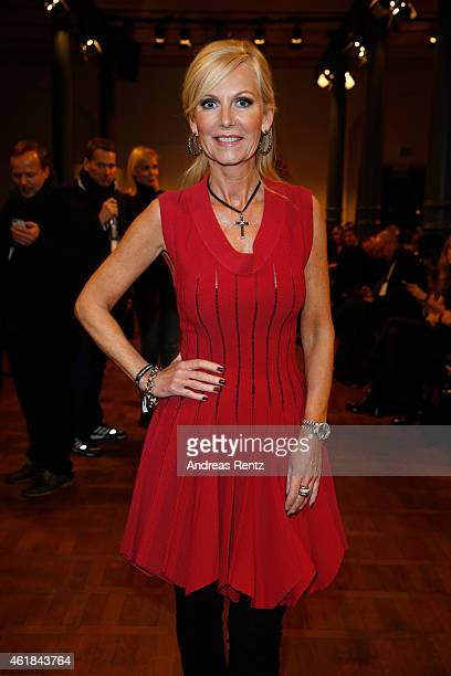Marion Fedder attends the Marcel Ostertag show at Heeresbaeckerei on January 20 2015 in Berlin Germany