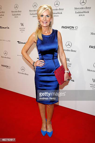 Marion Fedder attends the Minx by Eva Lutz show during MercedesBenz Fashion Week Autumn/Winter 2014/15 at Brandenburg Gate on January 15 2014 in...