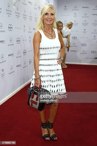 Marion Fedder attends the Minx by Eva Lutz show during the MercedesBenz Fashion Week Berlin Spring/Summer 2016 at Brandenburg Gate on July 8 2015 in...