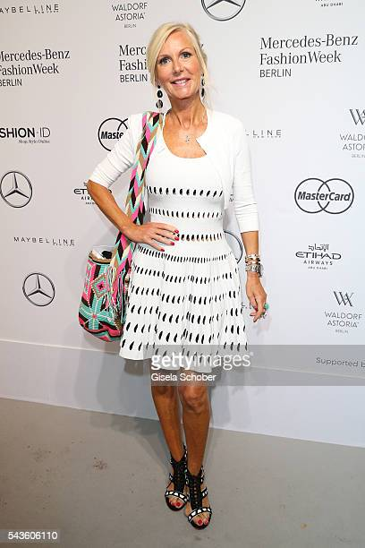 Marion Fedder attends the Minx by Eva Lutz show during the Mercedes-Benz Fashion Week Berlin Spring/Summer 2017 at Erika Hess Eisstadion on June 29,...